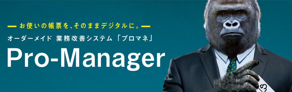 オーダーメイド業務改善システム Pro-Manager(プロマネ)